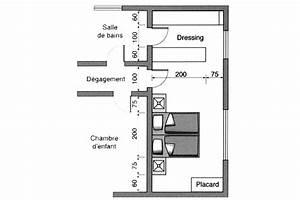 plan chambre ou mettre le lit dans la chambre cote With plan chambre a coucher