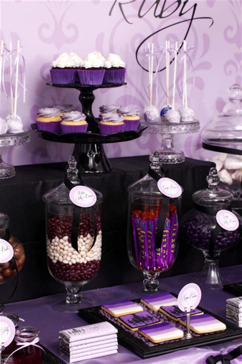 rubys sophisticated tween  birthday table
