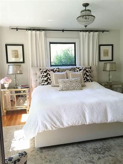 Window Bed Bedroom Curtains Behind Windows Under