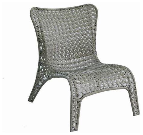 garden treasures tucker bend gray woven seat steel patio