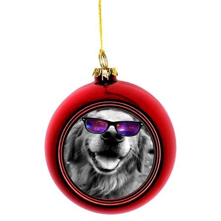 fifty shades xmas tree ornaments ornament golden retriever in galactic shades glasses bauble ornaments