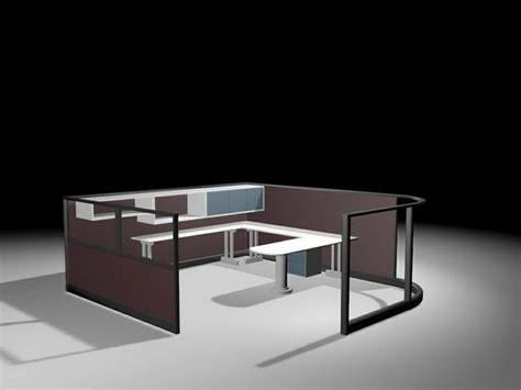 office partition   shaped cubicle desk  model dsmax files   modeling