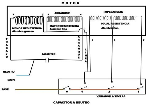 diagrama de conexion ventilador teclas diagramas