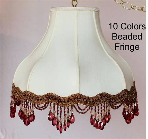 beaded l shade shades cool white wall fabric lshade