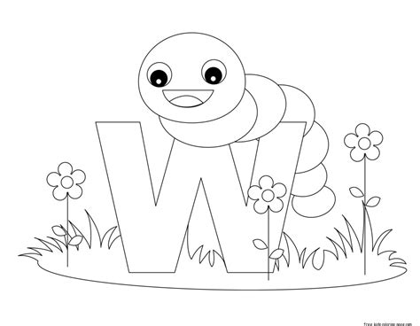 printable alphabet letters  animals letters    wormfree printable coloring pages  kids