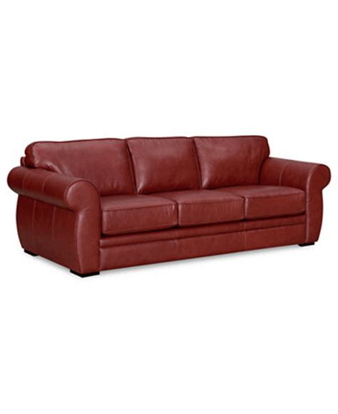 carmine leather queen sleeper sofa bed furniture macy s