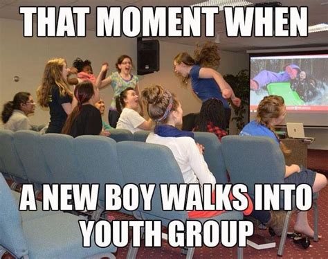 Meme Group - new boy at youth group meme dust off the bible