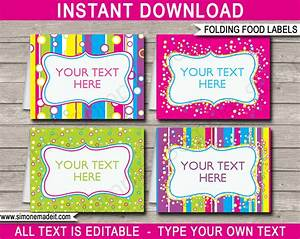 editable food labels buffet tags tent cards party With buffet food labels templates