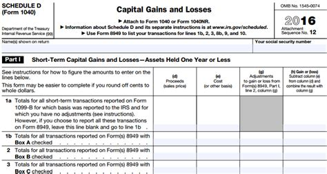 irs schedule d tax worksheet the best worksheets image
