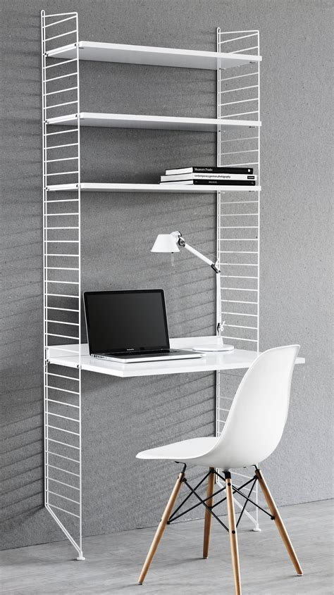 string desk l 78 x h 200 cm white by string furniture