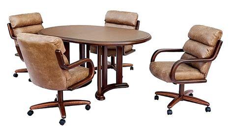 chromcraft dining chairs casters chromcraft caster chair dining room concepts
