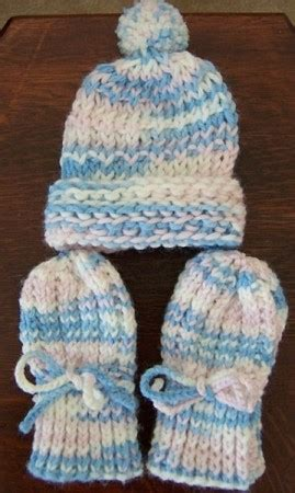 craft knitted infant thumbless mittens thriftyfun