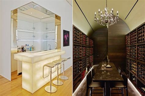 Luxury Home Bar And Wine Cellar