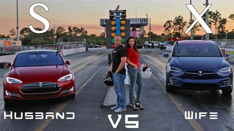 Tesla Model X Vs Model S P90d Ludicrous Husband Vs Wife