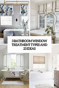 3 bathroom window treatment types and 23 ideas shelterness for Window dressing ideas for bathrooms