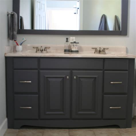 espresso painting bathroom cabinets  double sink vanity