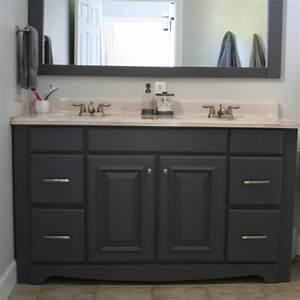 Espresso painting bathroom cabinets for double sink vanity for Painted vanities bathrooms