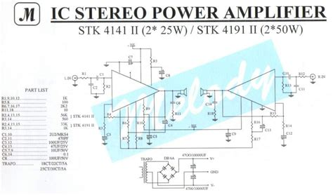 Stereo Power Amplifier With Stkii Electronik