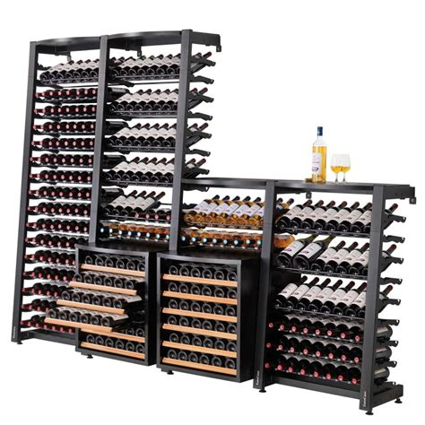 rangement pour bouteille de vin modulosteel rangement contemporain modulable en acier pour le vin eurocave