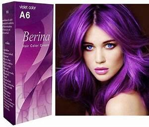 BERINA VIOLET HAIR COLOR CREAM PERMANENT HAIR DRY CREAM EBay