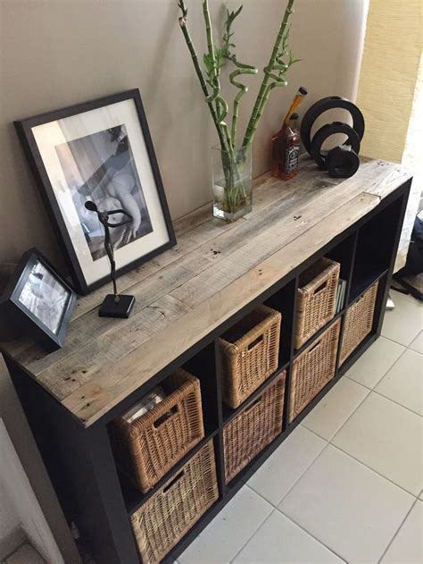 top take a new look at an ikea cabinet using pallets u idea with ikea table bois
