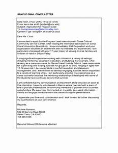 cover letter in email for job With email cover letter template