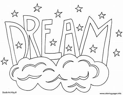 Coloring Dream Word Pages Printable