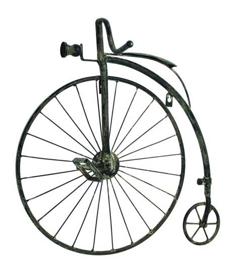 """It makes your bikes double as wall art and adds so much interest to the house! 23"""" Antique Style High Wheel Bicycle Wall Art Bike Penny Farthing Wall Decor - Walmart.com ..."""