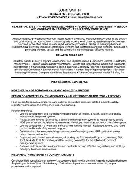Resume Health And Safety by Click Here To This Senior Health And Safety Analyst Resume Template Http Www