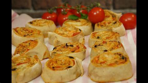 recette facile des pizza rolls pour laperitif youtube