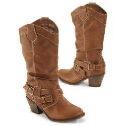 womens boots walmart 39 s buckled boots shoes walmart com