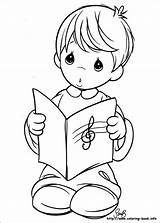 Coloring Pages Moments Precious Choir Angel Boy sketch template