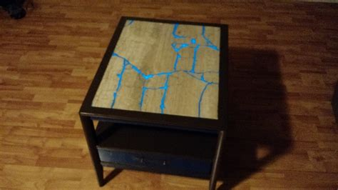 Shabby Geek Goodwill Table Gets Glowing Makeover   Make: