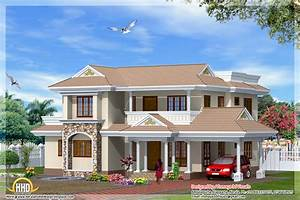 Indian style 4 bedroom home design