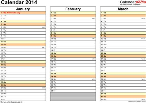 Calendar 2014 Template Uk Costumepartyrun