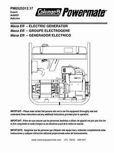 Coleman Powermate 5000 Generator Manual