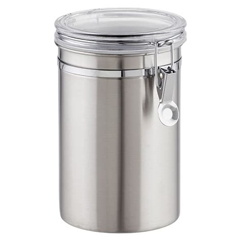 kitchen storage containers stainless steel stainless steel canisters brushed stainless steel 8620