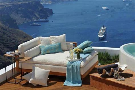 Amazing Balcony In Santorini Greece Pinterest