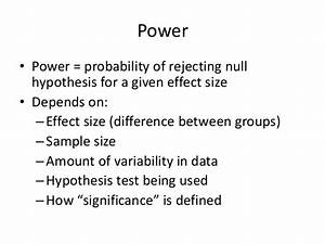 Null hypothesis in biology