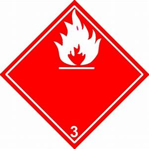 Etiquette Liquides Inflammables Classe 3 Stocksignes