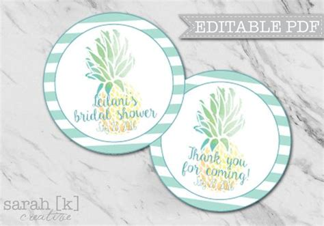 Tropical Pineapple Gift Tags Pineapple Gift Tags Tropical