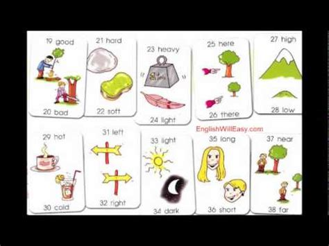 picture dictionary  kids opposites words  kids