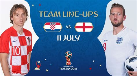 Lineups Croatia England Match Fifa World