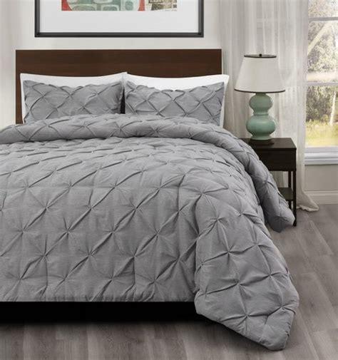 light grey comforter master 3pcs pinch pleat comforter set size king cal king