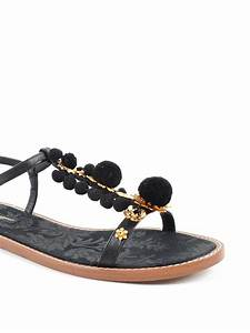 Pompon flat sandals by Dolce & Gabbana - sandals | iKRIX