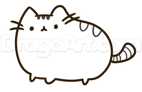 pusheen  cat  unicorn coloring pages