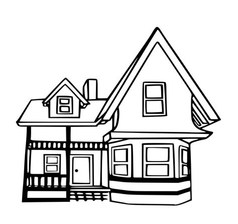 house coloring sheets search results   house