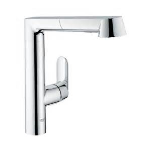 kitchen faucet grohe shop grohe k7 starlight chrome 1 handle pull out kitchen faucet at lowes