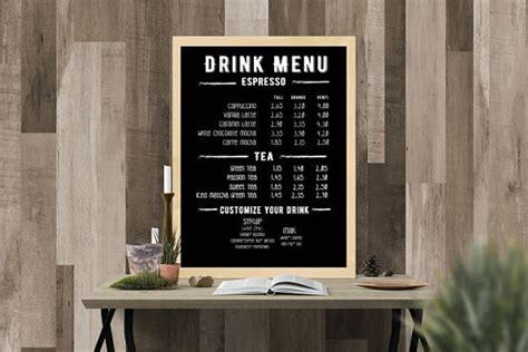 coffee shop menu designs templates psd ai
