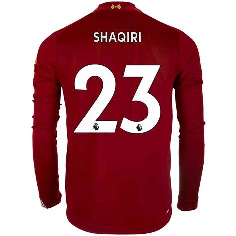 2019/20 liverpool fc home jersey. 2019/20 New Balance Xherdan Shaqiri Liverpool Home L/S ...
